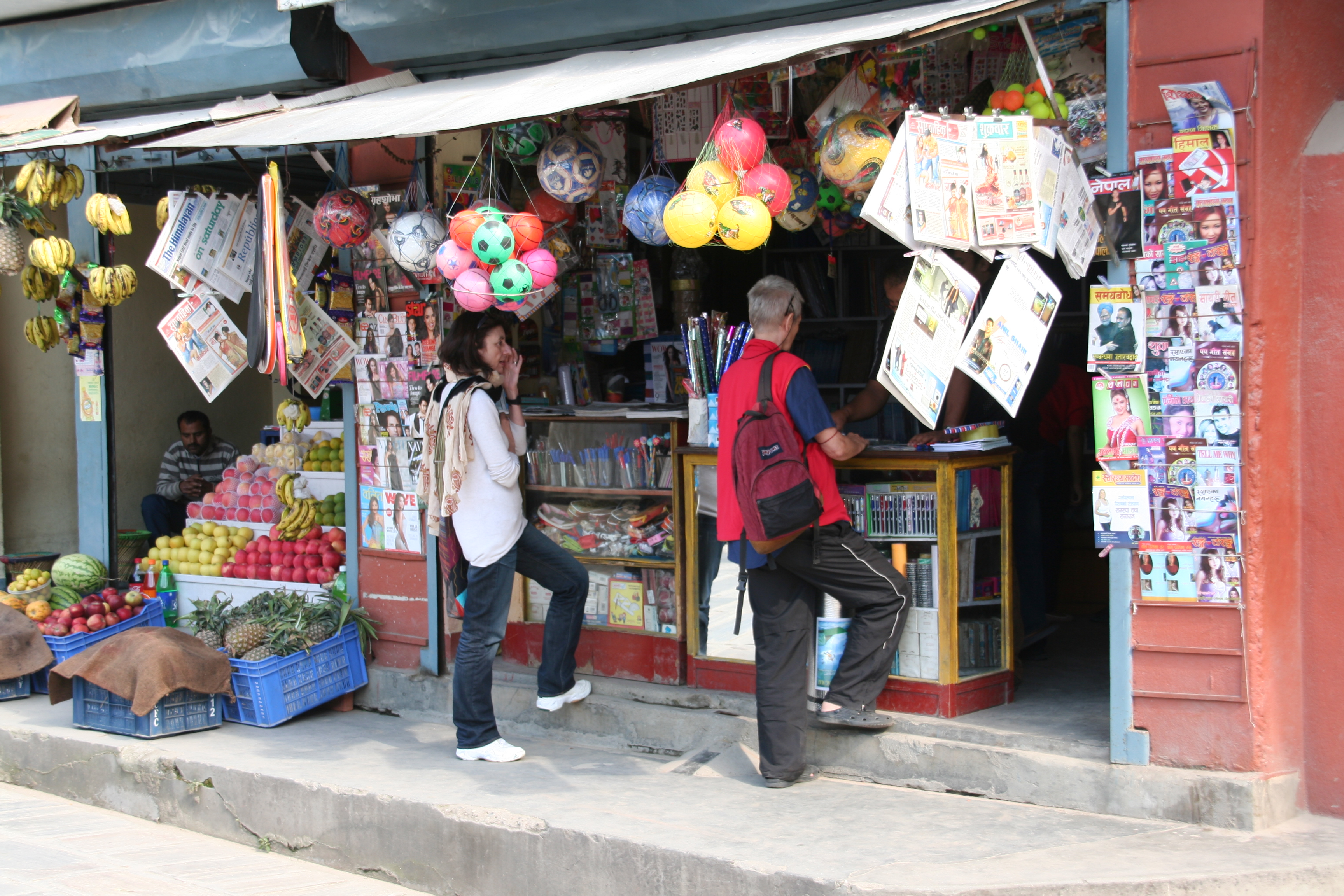 Einkaufen in Boudha