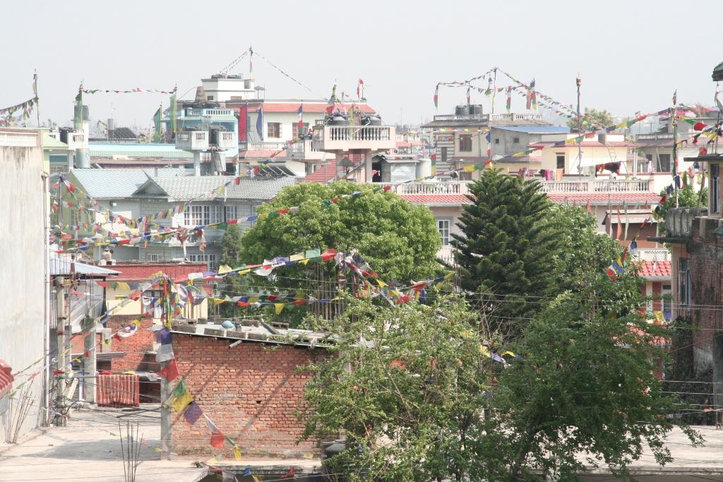Über den Dächern von Boudha