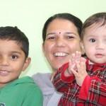 Anita mit Kindern