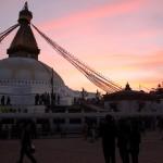 Abend an der Stupa