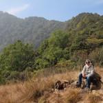 Rast über Kathmandu