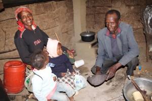 Familie mit Ofen