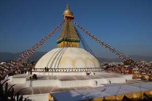 Stupa geschmückt