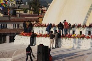 Stupa mit Schmuck